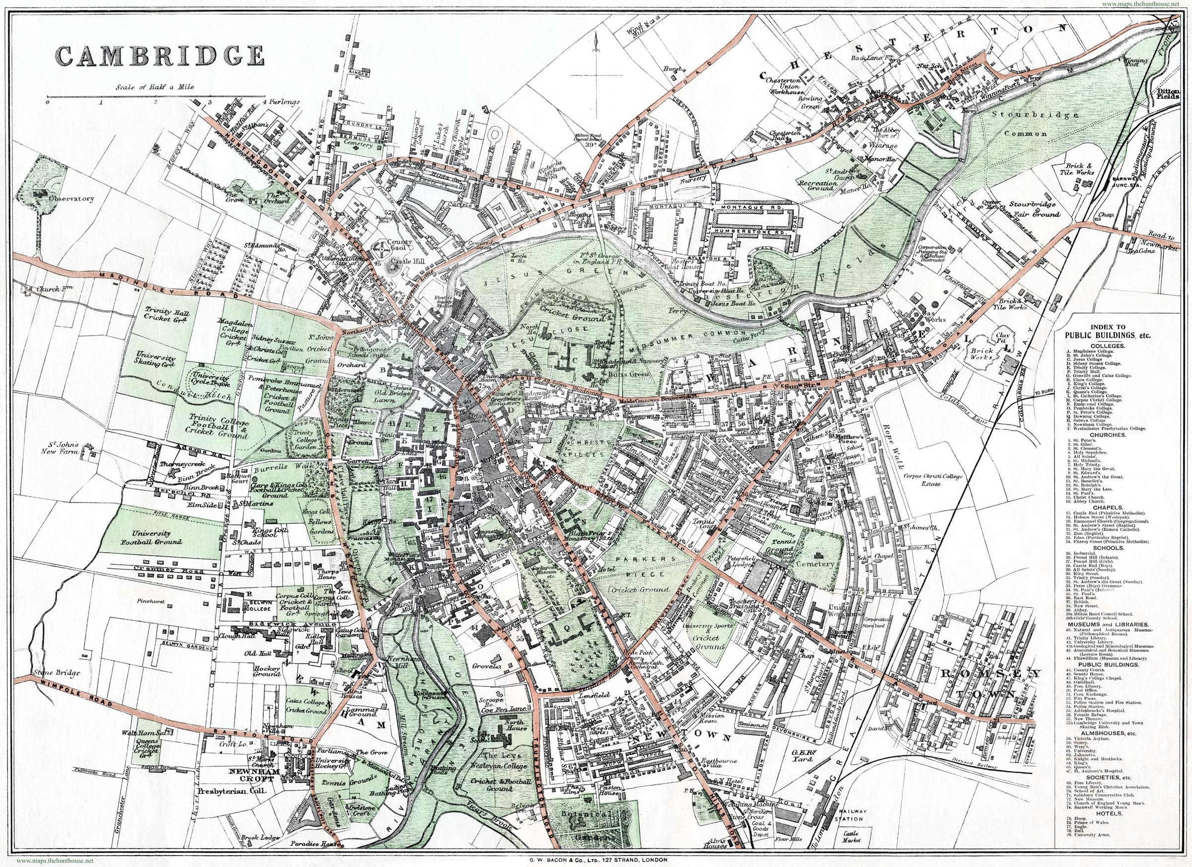 Free Map Of Cambridge - Map od