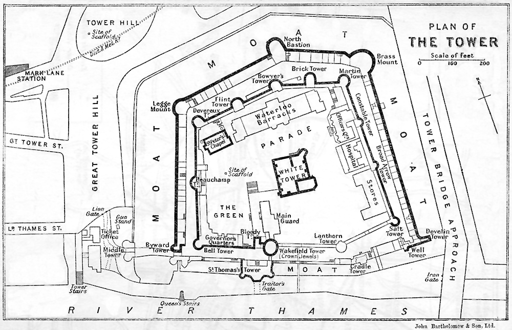 plan of the tower of london the project gutenberg ebook of authorised guide to the
